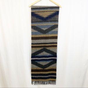 New Pendleton Wool Aztec Fringe Blanket Scarf